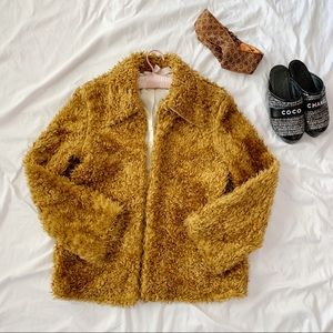 Vintage Jackets & Coats - Vintage Vegan Teddy Bear Oversized Coat Jacket